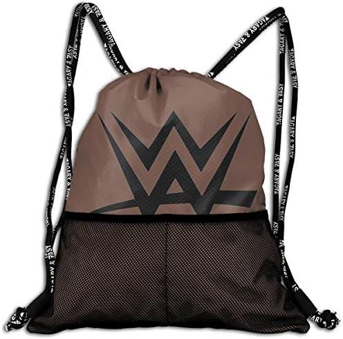 Wwe Logo (2) ナップサック アウトドア ジムサック 防水仕様 バッグ 巾着袋 スポーツ 収納バッグ 軽量 バッグ 登山 自転車 通学・通勤・運動 ・旅行に最適 アウトドア 収納バッグ 男女兼用 ジムサック バック