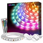 #LightningDeal Led Strip Lights, Govee 16.4Ft Waterproof RGB Light Strip Kits with Remote for Room, Bedroom, TV, Kitchen, Desk, Color Changing Led Strip SMD5050 with 3M Adhesive and Clips, 12V Power Supply