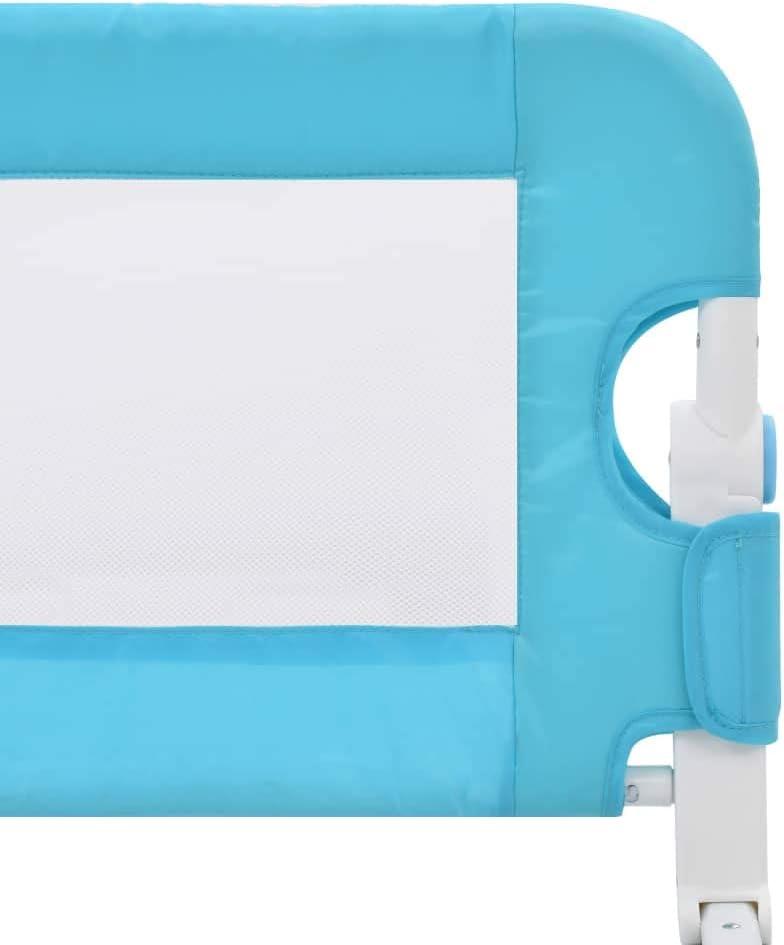vidaXL color azul Barrera de seguridad para cama infantil 180 x 42 cm, poli/éster