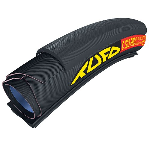 (Tufo 700X21 C S33 Pro Tubular-Clincher Tire (Black))