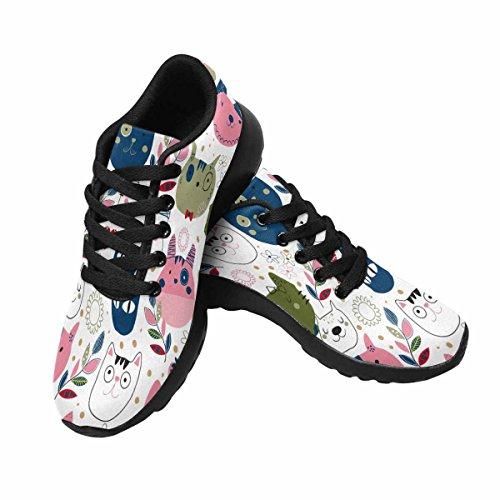 Interestprint Mujeres Trail Running Zapatos Jogging Ligero Deportes Walking Athletic Sneakers Kitty Cat Multi 1