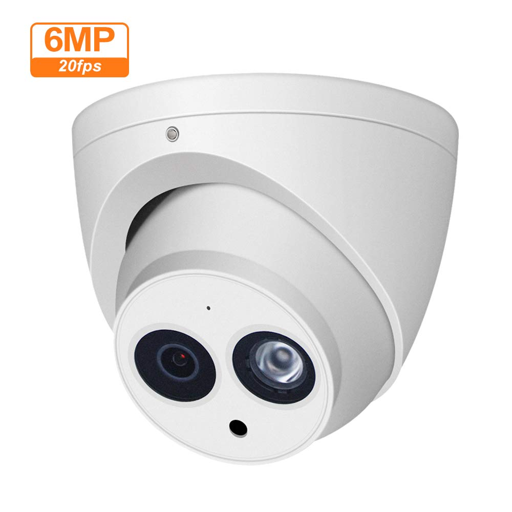 6MP Dome PoE IP Security Camera IPC-HDW4631C-A 3.6mm Lens,6 Megapixels Super HD Outdoor Indoor Home Video Surveillance Poe Camera with Audio,IR 30m Day and Night,ONVIF,IP67 Waterproof