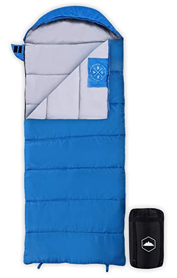 uk availability 56bb3 54dc8 Tough Outdoors Kids Sleeping Bag for Girls, Boys, Youth & Teens - Perfect  for Warm & Cool Weather Camping, Children's Sleepovers & Nap Time - ...