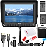 Neewer NW-S7 7 inches 4K HD Camera Field Monitor Kit:1920X1200 IPS Screen Camera Monitor,11.8 inches Magic Arm, Professional Cleaning Kit Includes Lens Brush and Cleaning Cloth