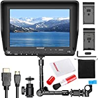 Neewer NW-S7 7 inches 4K HD Camera Field Monitor Kit:1920X1200 IPS Screen Camera Monitor,11.8 inches Magic Arm, Professional Cleaning Kit Includes Lens Brush and Cleaning ClothPentax