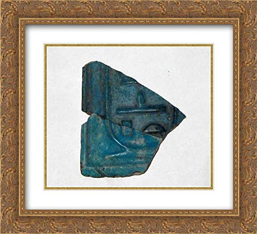 Middle Kingdom Period - 22x20 Gold Ornate Frame and Double Matted Museum Art Print - Tile Inlay Fragment