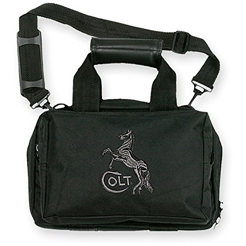 Bulldog Cases Deluxe Mini Range Bag with Strap and Colt Logo, Black