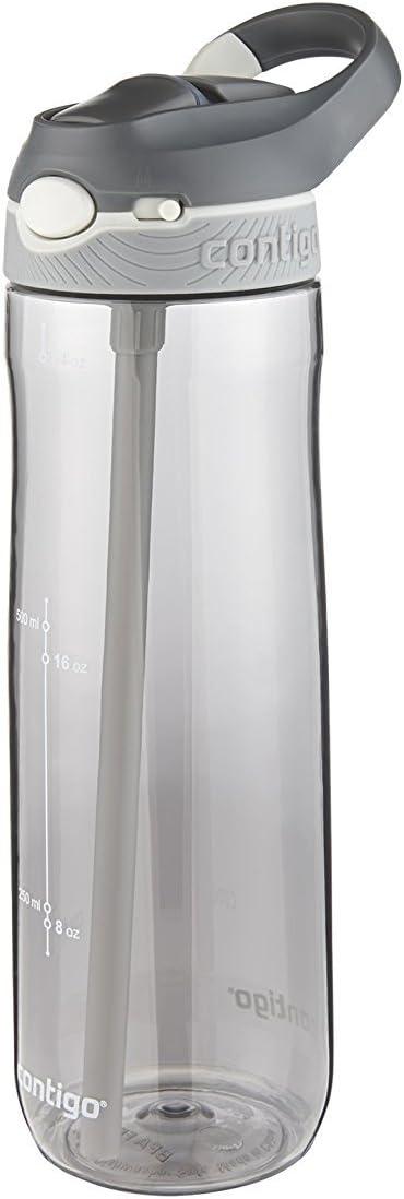 Contigo AUTOSPOUT Straw Ashland Water Bottle, 24oz, Smoke