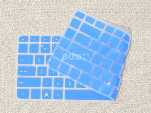 Bodu Colorful Keyboard Protector for HP Pavilion G4 G6 M4; Envy 4 6 15 Pro; DM4 DV4; HP 450 1000 2000; Presario 431 430 450 Q43 CQ57 CQ45,Pavilion TouchSmart 14-B137TX,242 G1 246 G1 (Blue) (Hp Pavilion Dm4 Laptop Keyboard)