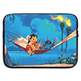 Laptop Sleeve Bag Lilo Stitch Tablet Briefcase Ultraportable Protective Canvas for 15 Inch MacBook Pro/MacBook Air/Notebook Computer