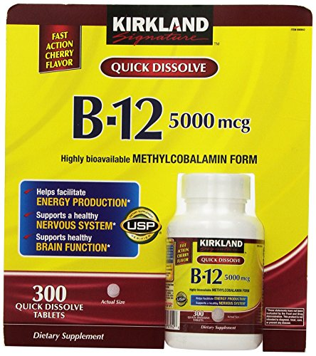 Kirkland Signature Sublingual B 12 5000 mcg, 300 Tablets
