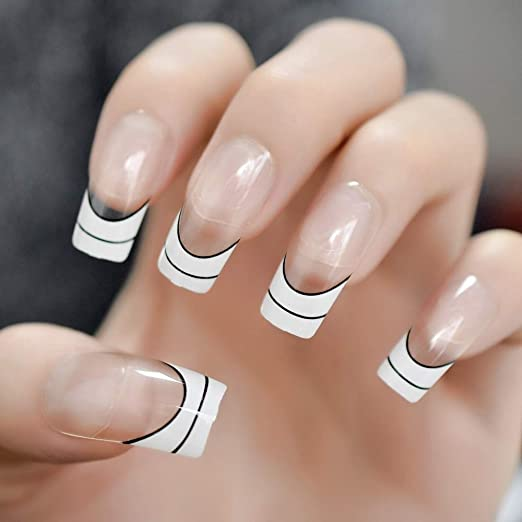 SPOKML Uñas Postizas Fancy Leopard Prints Art Nails Jewelry ...