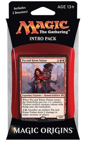 Magic the Gathering: MTG Magic Origins: Intro Pack / Theme Deck: Pia and Kiran Nalaar (includes 2 Booster Packs & Alternate Art Premium Rare Promo) Red