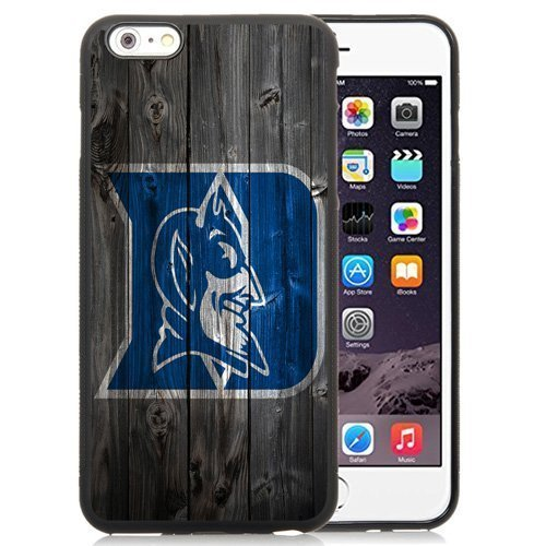 Customized Iphone 6 Plus Case with NCAA Atlantic Coast Conference ACC Footballl Duke Blue Devils 8 Protective Cell Phone TPU Cover Case for Iphone 6 Plus Generation 5.5 Inch Black by Case for iphone 6