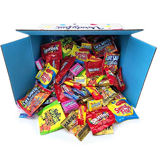 Candy Party Mix Bulk Bag of Skittles Swedish Fish Nerds Haribo Gummy Sour Patch Twizzlers Starburst Mike and Ike ' more! by Variety Fun Net wt (96 oz) -