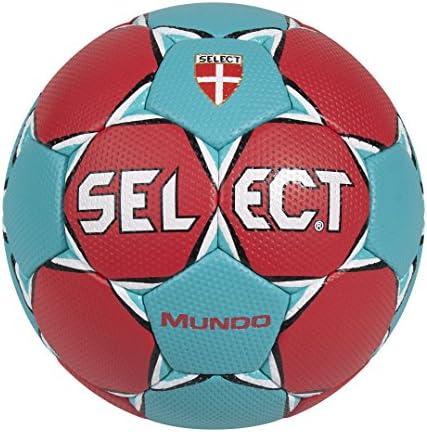 SELECT Balón Balónmano Mundo Rojo/Turquesa-3: Amazon.es: Deportes ...