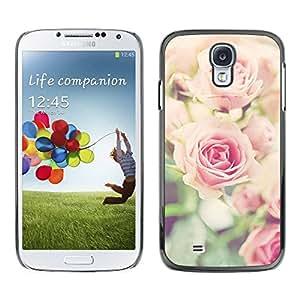 TopCaseStore / la caja del caucho duro de la cubierta de protección de la piel - Pink Floral Spring Nature - Samsung Galaxy S4 I9500