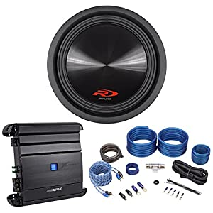 "Alpine Type-R SWR-12D4 12"" 3000W Car Audio Subwoofer Sub+Mono Amplifier+Amp Kit"