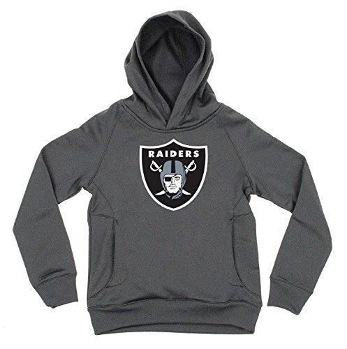 NFL Youth Performance Primary Logo Pullover Sweatshirt Hoodie (Medium 10/12, Oakland Raiders) - Oakland Raider Hoody Sweatshirt
