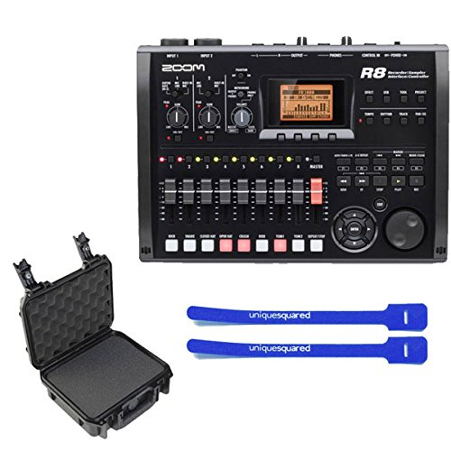 Zoom R8 Multitrack SD Recorder Controller and Interface w/ SKB 3i12094BC Case & Cable Ties by Zoom