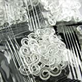 HuaYang 240 Pieces Loom Kit DIY Rubber Band Bracelet Woven S Clips Connectors Refills