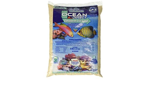 Carib mar océano acs00905 directo Natural Live Arena para Acuario, 5-Pound: Amazon.es: Productos para mascotas
