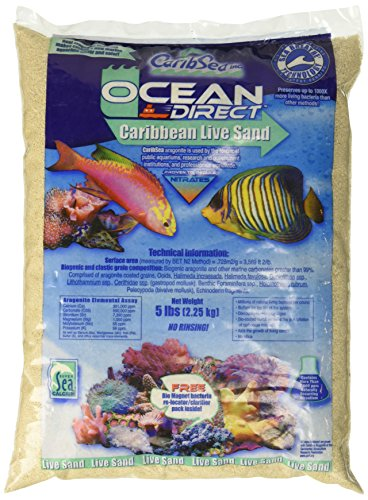 Carib Sea ACS00905 Ocean Direct Natural Live Sand for Aquarium, 5-Pound