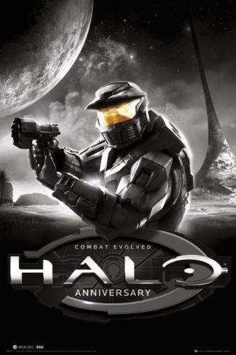Halo anniversary video game poster