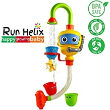 RUN HELIX Bath Toys For Toddlers 2 Years Old Boy Girl Toys Bathtub Bathtime Toys For Boys Age 2 - Enhance Your Baby's Thinking Ability and Creativity((Recommend Age 2 Above,No Batteries Required))