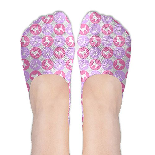 Pink Cat Polyester Cotton Colored No Show Flat Boat Line Low Cut Sand Socks For - Colored Cat Sand