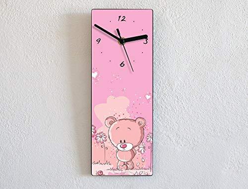 Girls Pink Teddy Bear - Wall Clock ()