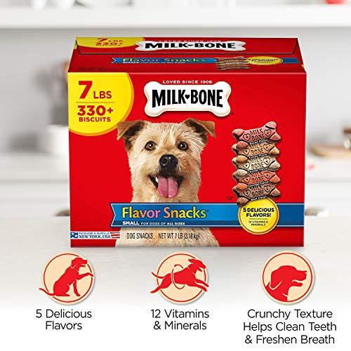 Milk-Bone Flavor Snacks  Dog Treat, Small/Medium Biscuits, 7-Pound