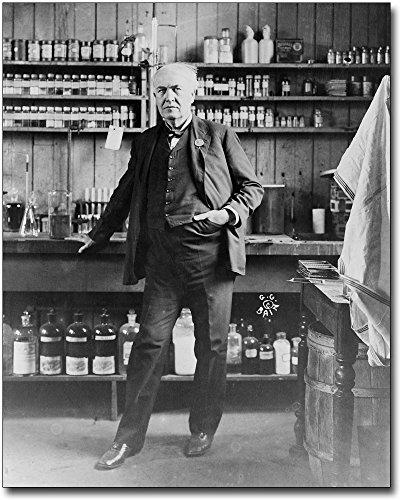 Thomas Edison Portrait in His Laboratory 8x10 Silver Halide Photo Print