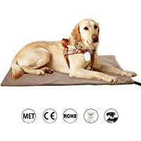 Zobire Pet Heating Pad, Large Dog Heating Pad, Indoor Waterproof Electric Heated Pet Bed, Met…