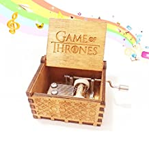 Wooden Music Box Boutique Creative Birthday Gift to Girlfriend Girls Small Gifts valentine's day, wedding, marriage, children, toy Thrones Theme boutique by Melissa