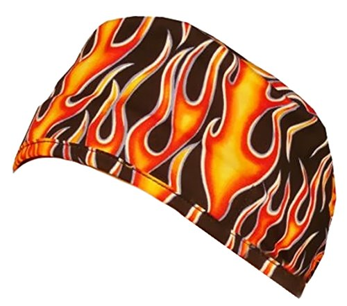 Mens And Womens Medical Scrub Cap - Hot Rod Flames ()