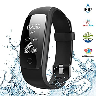 Fitness Tracker,Touch Screen Waterproof Activity Tracker with Heart Rate Monitor Watch Bluetooth Smart Watch Sleep monitor Pedometer Wristband Calorie Step Counter Watch for Android & iOS
