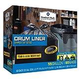 55 gallon drum liners - Member's Mark Simple Tie Drum Liner, 55 Gallon, 80 Ct, Black (WCE080B) (1)