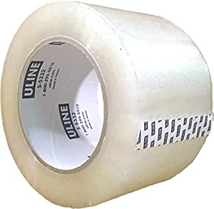 Packing Tape, 3 Inch X 110 Yard 2.6 Mil Crystal Clear Heavy Duty Tape By Uline, Pack of 4