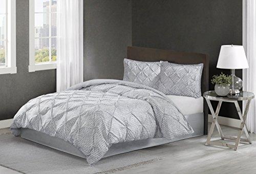 Echo Design Dot Kat Comforter Set, King, Grey