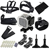 niceEshop(TM) Accessories for GoPro,15 Essential Accessories Bundle Kit for GoPro Hero 4 Session / 5 Session for Parachuting Climbing Diving Swimming Surfing Rowing Running Cycling Camping