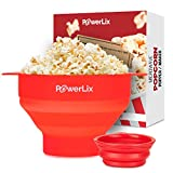 PowerLix Microwave Popcorn Popper, Collapsible Silicone...