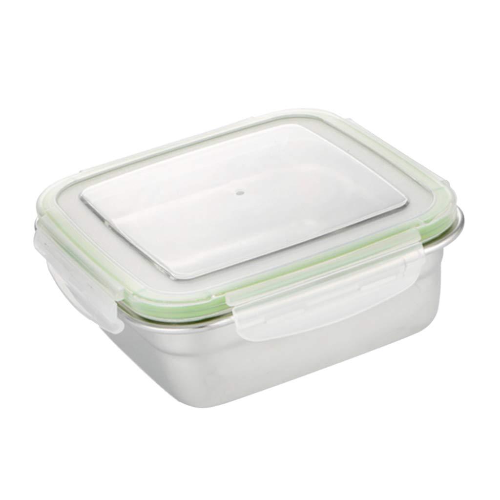400ml D DOLITY Bo/îte D/éjeuner Acier Inoxydable Ustensile de Cuisine Portable Bo/îte-Repas Carr/é Durable