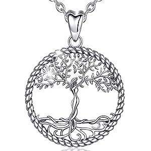 Collier Argent 925 Femme Pendentif Arbre de Vie Noeud Celtique Cadeau de Noel Anniversaire Mariage, AEONSLOVE Bijoux…