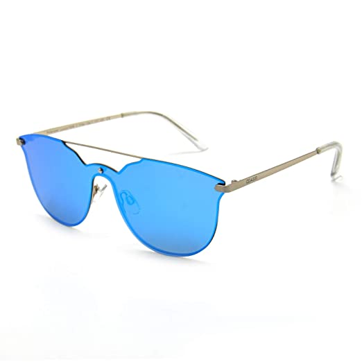 aa6348a939 Amazon.com  OGASIR Rimless Sunglasses For Men Women - Cat Eye Polarized  Design