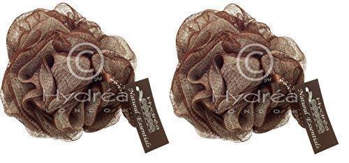 Hydrea Grande Esfoliante Corpo Puff / Elastico per capelli /Lima - Bagno & Doccia Confezione Doppia (Cioccolato & Crema)