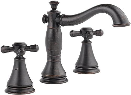 Delta KLDCA-WS-3597H295-RB Cassidy Lavatory Faucet Kit with Metal Cross Handles, Venetian Bronze Venetian Bronze