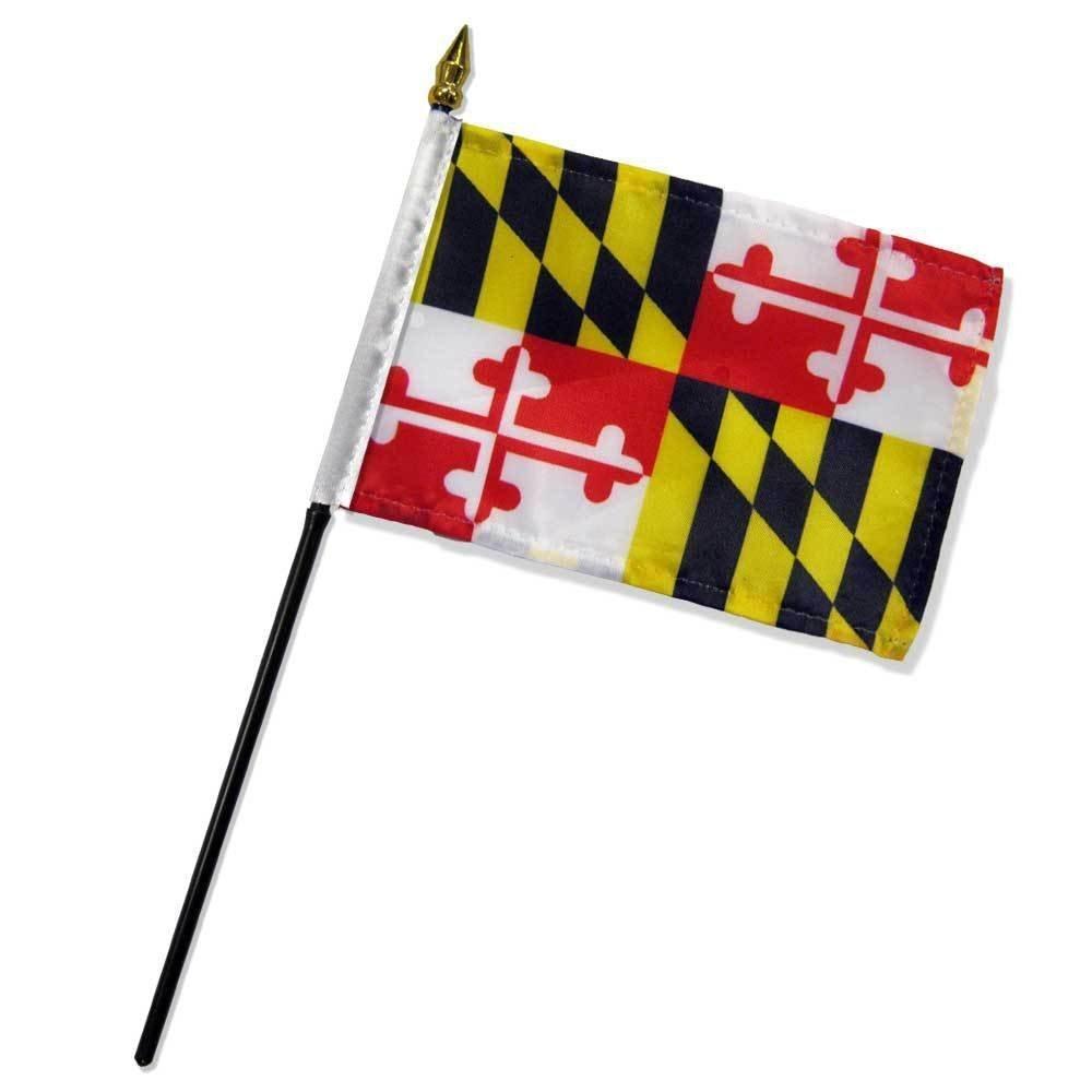 No Base 1 Maryland 4x6 Desk Stick Flag