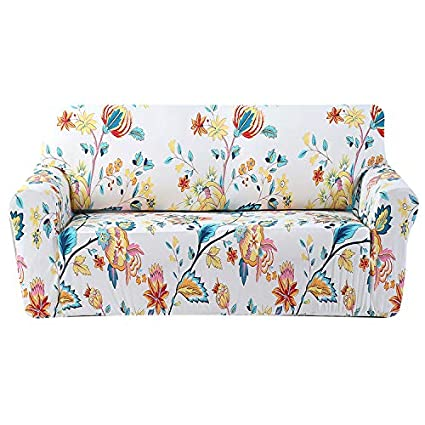 Amazon.com: Stretch Couch Cover Printed Pattern Large Sofa Slipcover ...