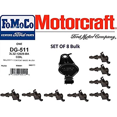 MOTORCRAFT IGNITION COIL FOR FORD LINCOLN MERCURY 3L3Z12029BA DG511 SET OF 8: Automotive